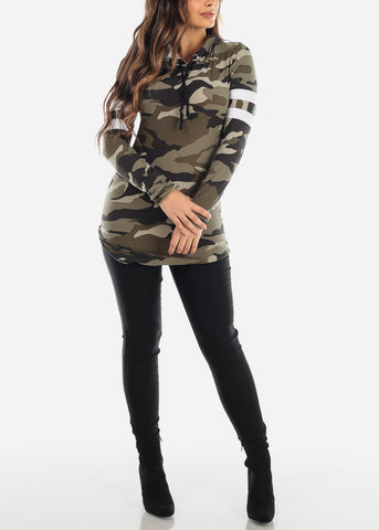 Image of Camouflage Tunic Hoodie