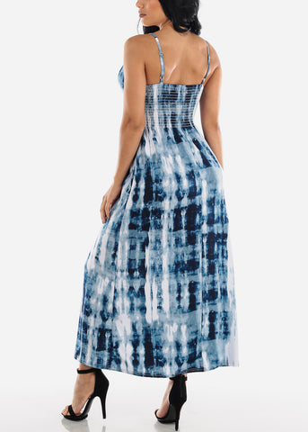 Image of Blue Tie Dye Maxi Dress