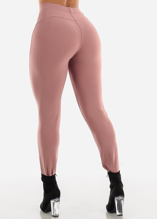 Dressy Butt Lifting Mauve Skinny Pants