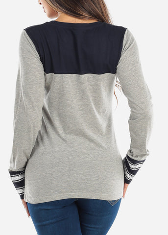 Image of Two Tone Navy Top