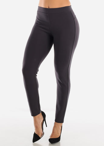 Dressy Butt Lifting Charcoal Skinny Pants