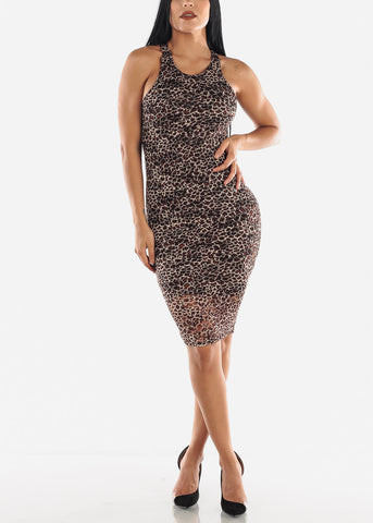 Image of Leopard Midi Dress