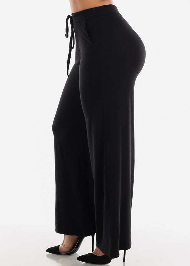 Black Loose Fit Wide Legged Pants