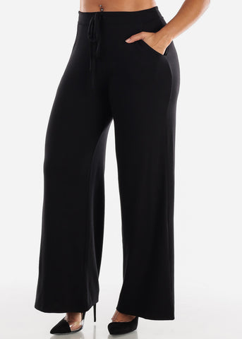 Image of Black Loose Fit Wide Legged Pants