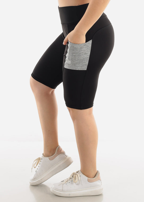 Black & Grey Activewear Shorts
