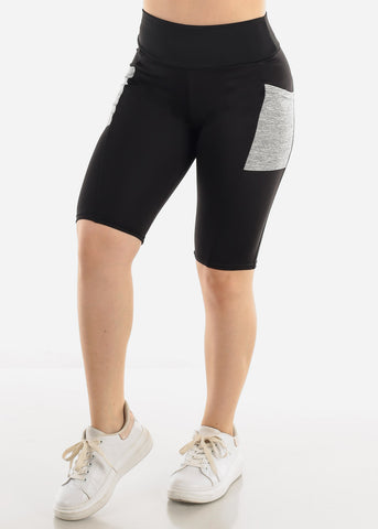 Image of Black & Grey Activewear Shorts