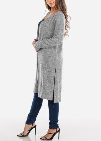 Image of Grey Maxi Cardigan