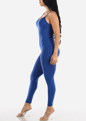 Spaghetti Strap Royal Blue Jumpsuit