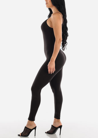 Image of Spaghetti Strap Black Jumpsuit