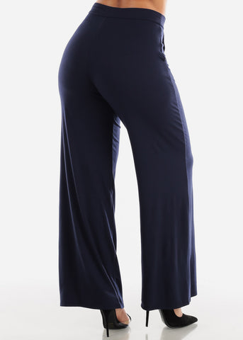 Navy Loose Fit Wide Legged Pants