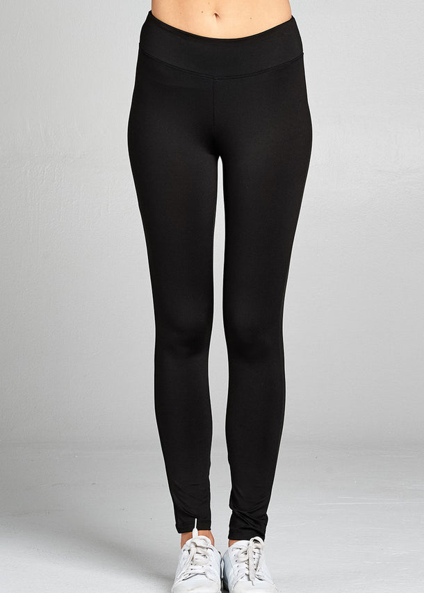 Activewear High Waisted Black Leggings