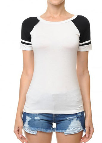 Short Sleeve Black Baseball T-Shirt