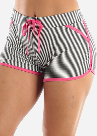 Striped PJ Shorts Set