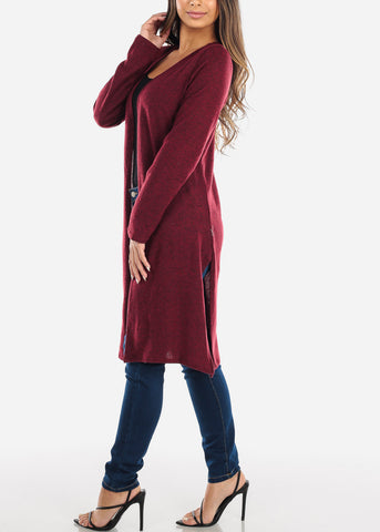 Image of Red Maxi Cardigan