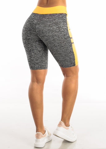 Activewear Heather Orange Bermuda Shorts
