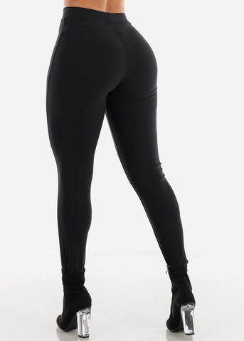 Dressy Butt Lifting Black Skinny Pants