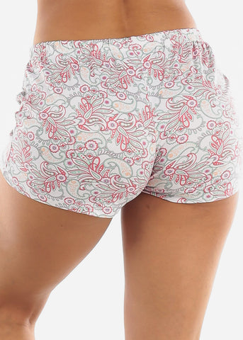 Image of Floral Printed Shorts PJ Set