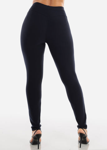 Image of High Rise Navy Skinny Pants