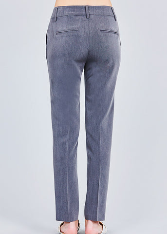 Image of Dark Grey Straight Leg Dress Pants