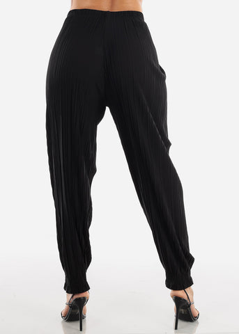 Image of Black Pleated Pants