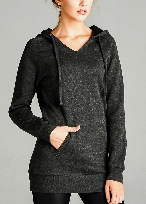Fleece French Terry Charcoal Hoodie
