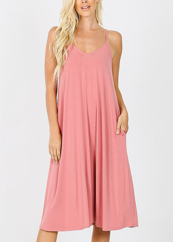 Rose Cami Knee Length Dress