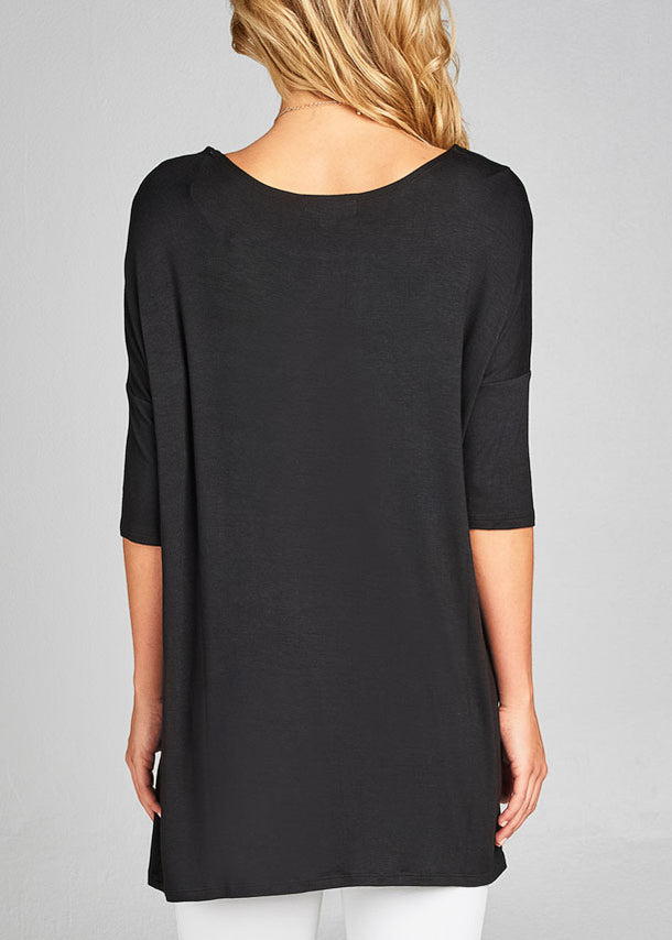 Basic Black Tunic Top