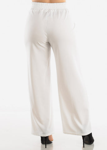 Ivory High Waist Dressy Pants