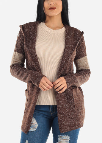 Image of Brown Hoodie Cardigan