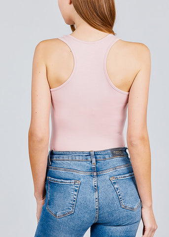 Scoop Neck Blush Bodysuit