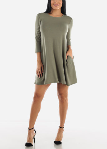 Long Sleve T-shirt Loose Mini Dress