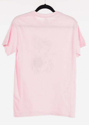 "Light Pink Graphic T-Shirt ""Aries"""