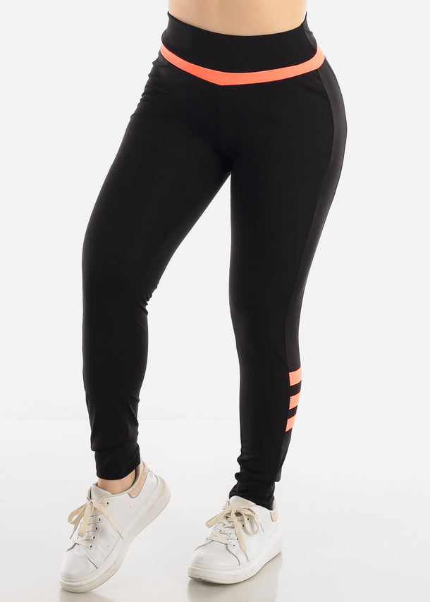 Black & Neon Activewear Leggings