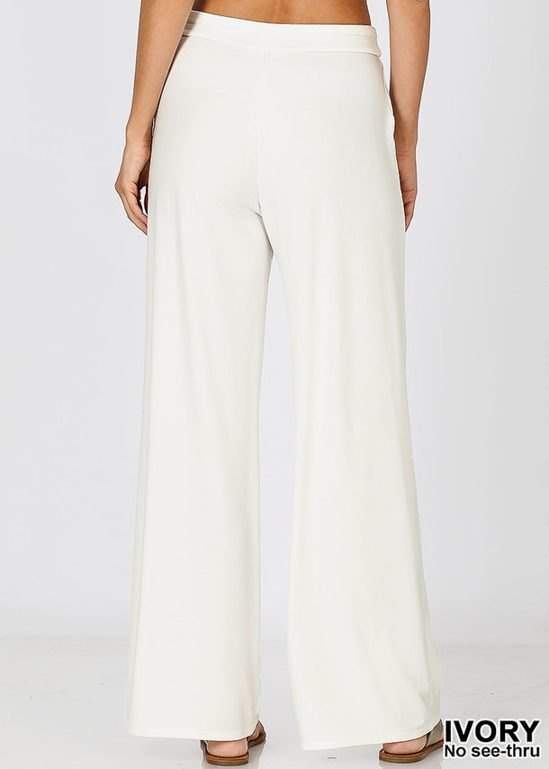 Ivory Loose Fit Wide Legged Pants