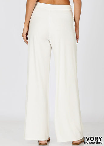 Image of Ivory Loose Fit Wide Legged Pants