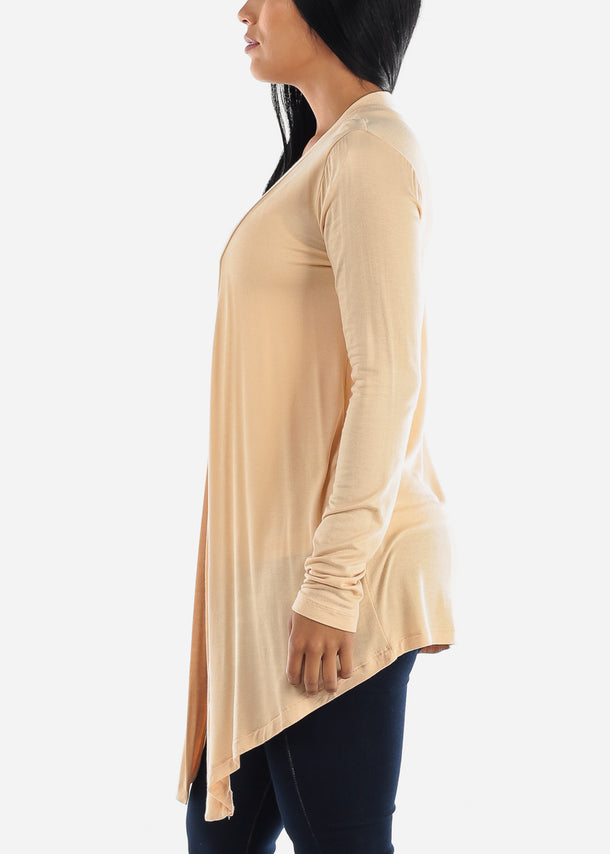 Open Front Drapey Sand Cardigan