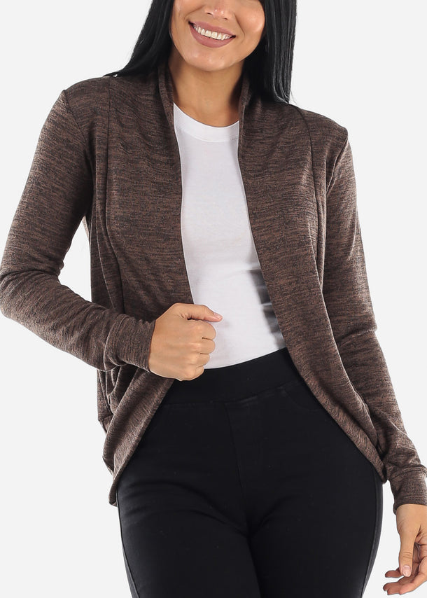 Long Sleeve Tan Heather Cardigan