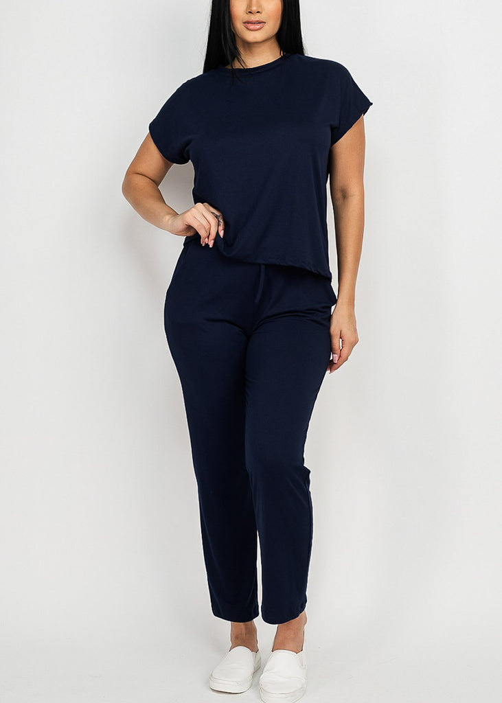 Women's Cute Navy Matching Set