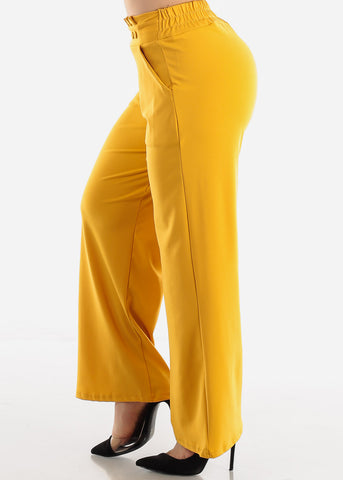 Mustard High Waist Dressy Pants
