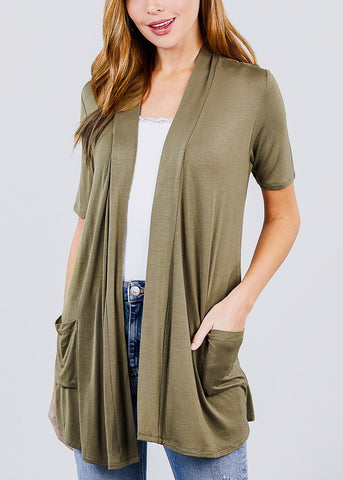 Image of Black Elbow Sleeve Cardigan