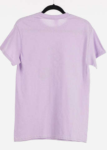 "Image of Lavender Graphic T-Shirt ""Cancer"""