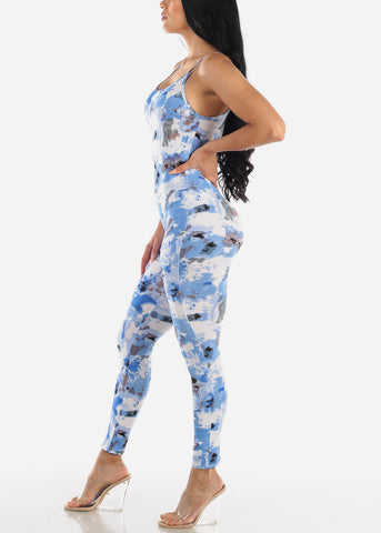 Image of Blue Tie Dye Jumpsuit