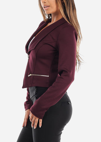 Image of Plum Moto Jacket