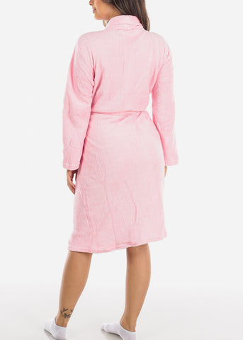 Image of Pink Fleece Robe