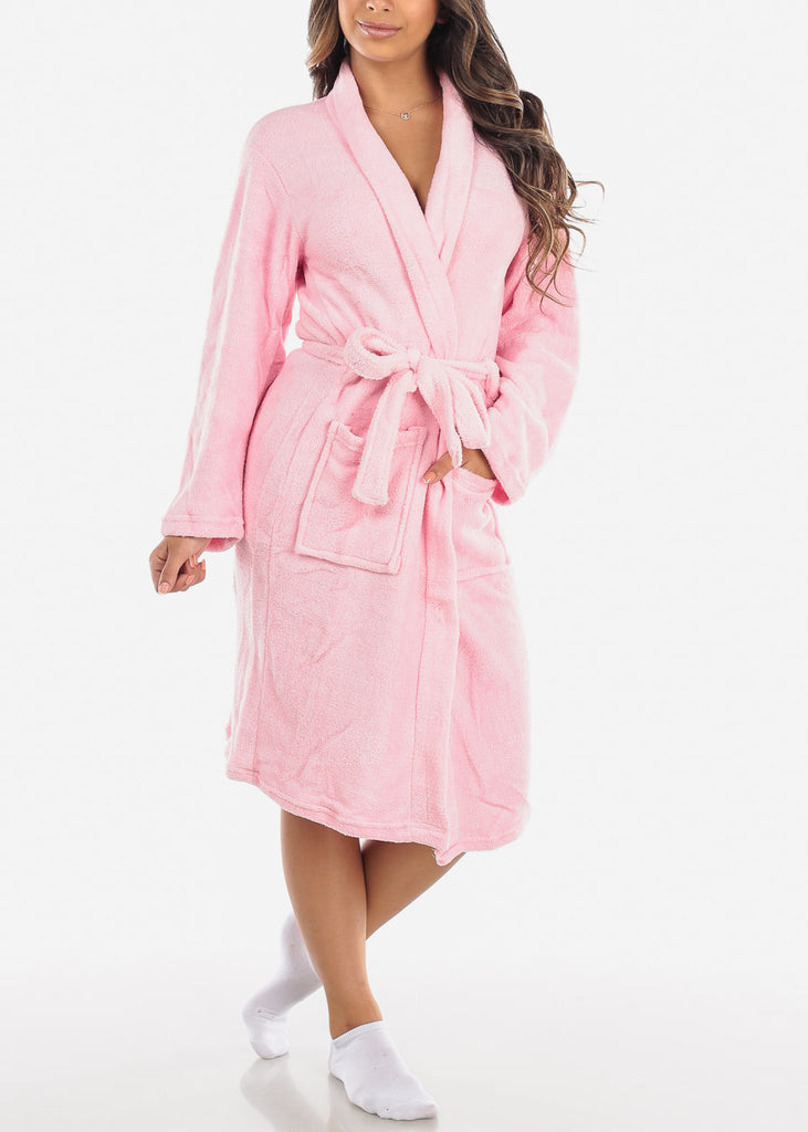 Pink Fleece Robe