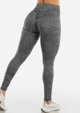 Ruched Butt Activewear Heather Grey Leggings