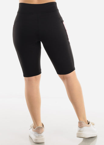 Image of Black & Pink Activewear Shorts