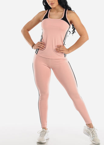 Activewear Mauve Top & Pants (2 PCE SET)