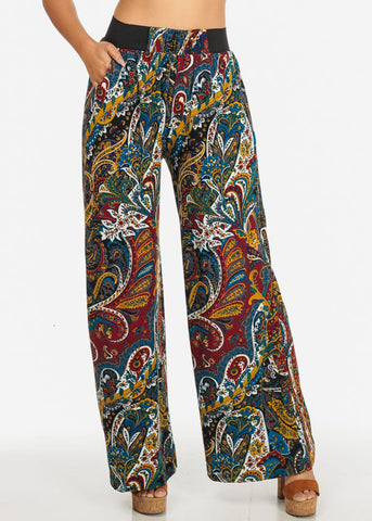 Multicolor High Rise Pants