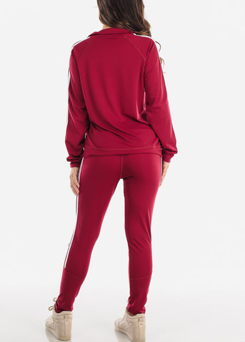 Burgundy Jacket And Pants (2 PCE SET)